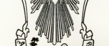 Logo de la Asociación de Belenistas de Madrid (blanco y negro)