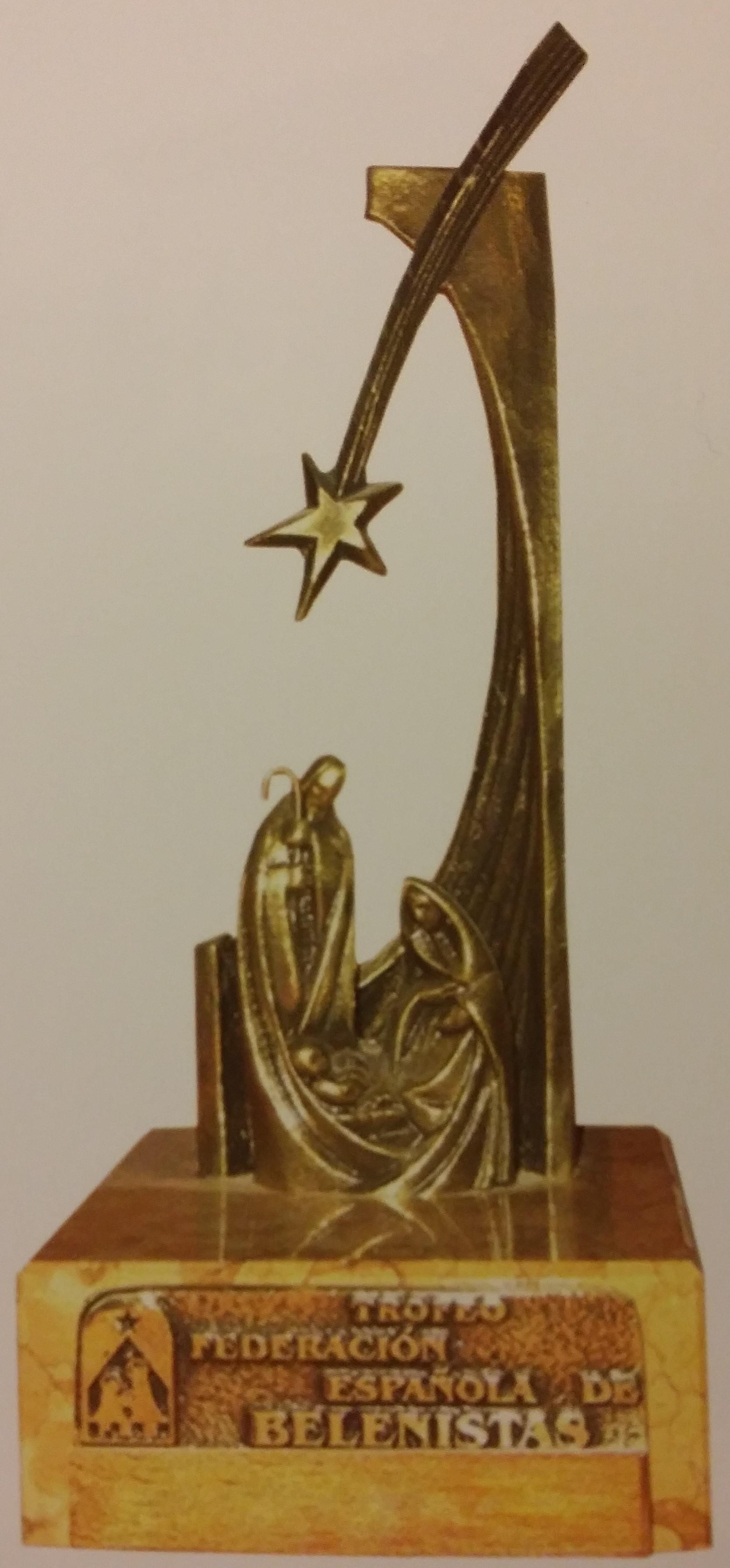Modelo de Trofeo Federación, creado en 1975 por los Hermanos Blanco, escultores e imagineros alicantinos.