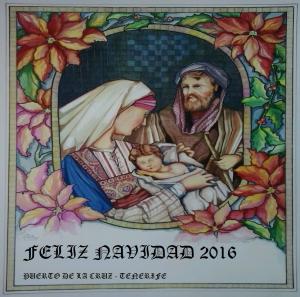Cartel confeccionado por el pintor tinerfeño Luis Dávila