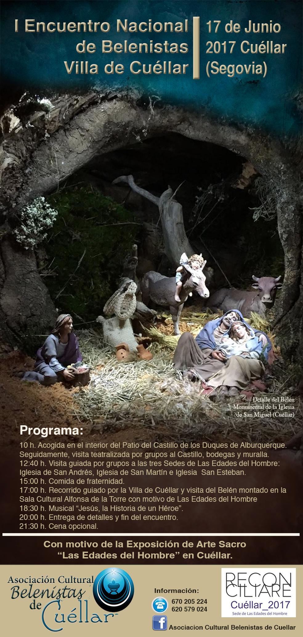 Flyer I Encuentro Belenistas Cuéllar 2017