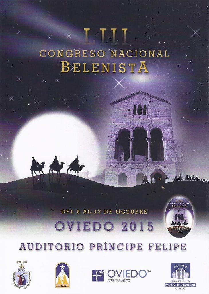 Cartel LIII Congreso Nacional Belenista - Oviedo 2015