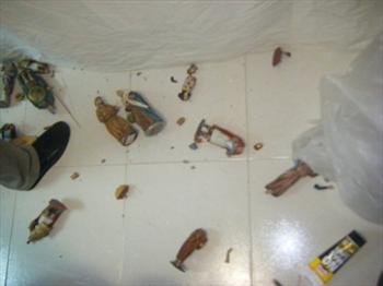 Sede Asociación Belenista de Lorca 19/05/2011 - Daños por el terremoto del 11/05/2011
