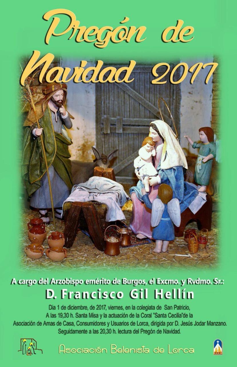 Cartel Pregón de Navidad 2017 - Asociación Belenista de Lorca