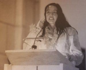 Beatriz Rico, actriz y presentadora de televisión, pregonera de la Navidad 2004 en Gijón (23/12/2004)