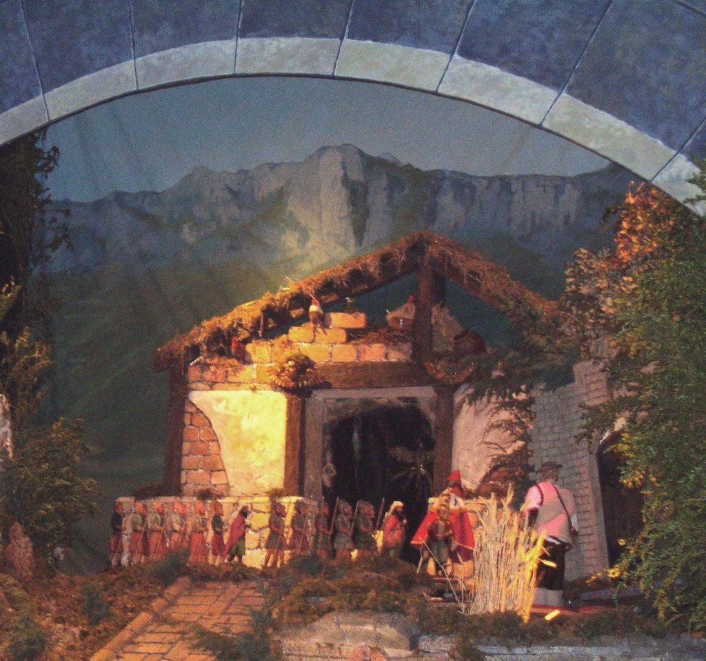 Representación del Milagro del campo de trigo (Belén de Santa María de Laguardia - Foto: Fco. Javier Gutiérrez)