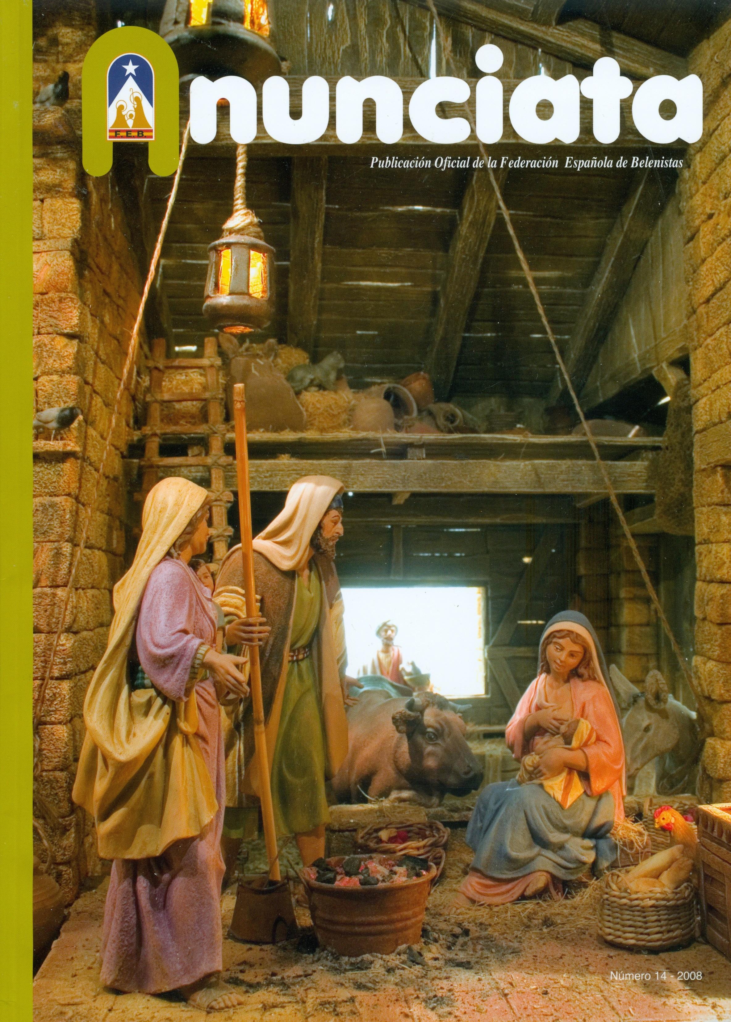 Portada de la revista Anunciata Nº 14 - 2008, de la Federación Española de Belenistas