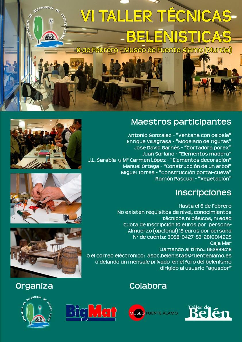 Cartel VI Taller de Técnicas Belenistas - Asociación de Belenistas de Fuente Álamo