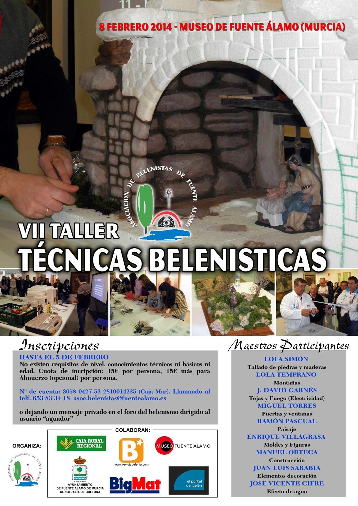 Cartel VII Taller de Técnicas Belenistas - Asociación de Belenistas de Fuente Álamo