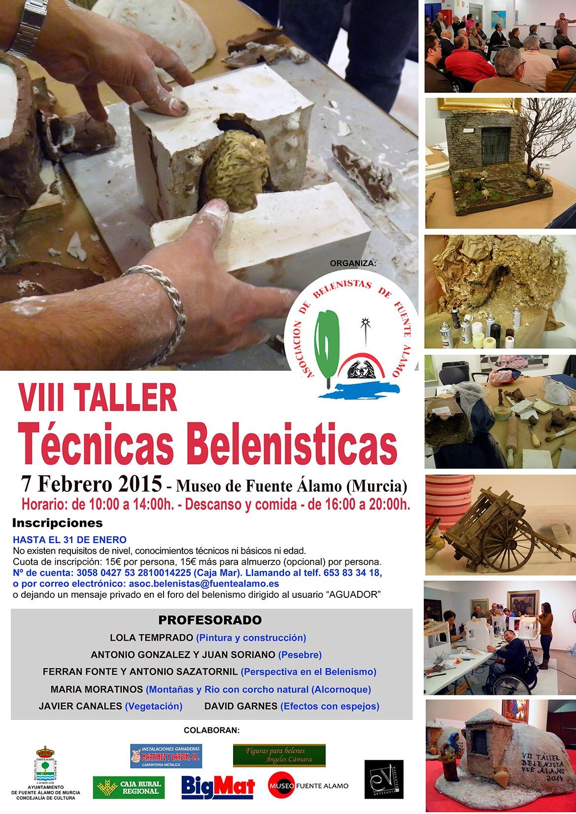 Cartel VIII Taller de Técnicas Belenistas - Asociación de Belenistas de Fuente Álamo