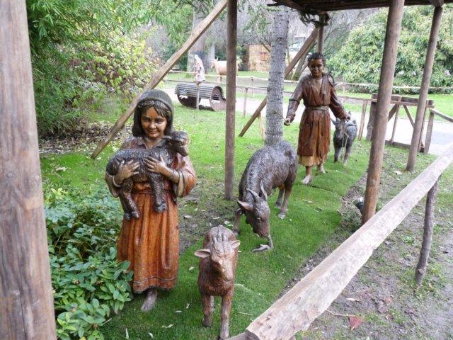 Figuras de maderas del belén de La Florida