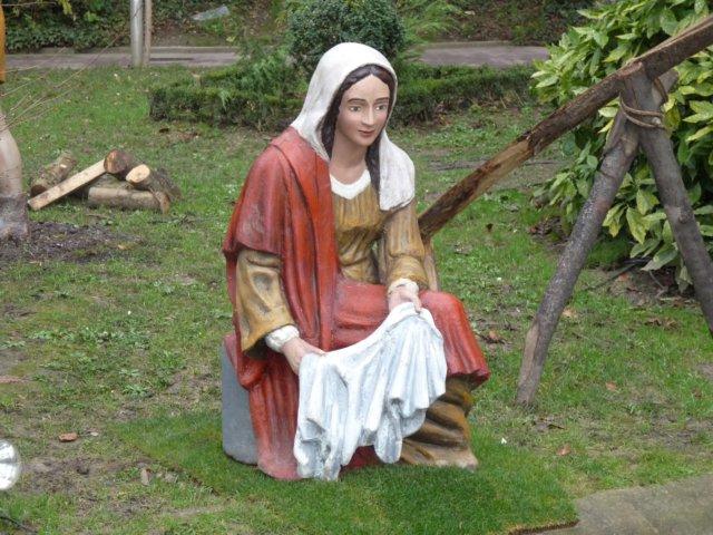 Virgen original del belén de La Florida, ahora lavandera