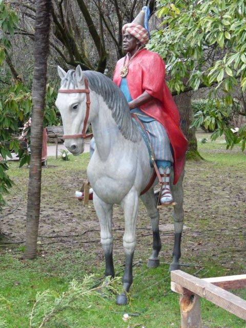 Rey Baltasar actual del belén de La Florida