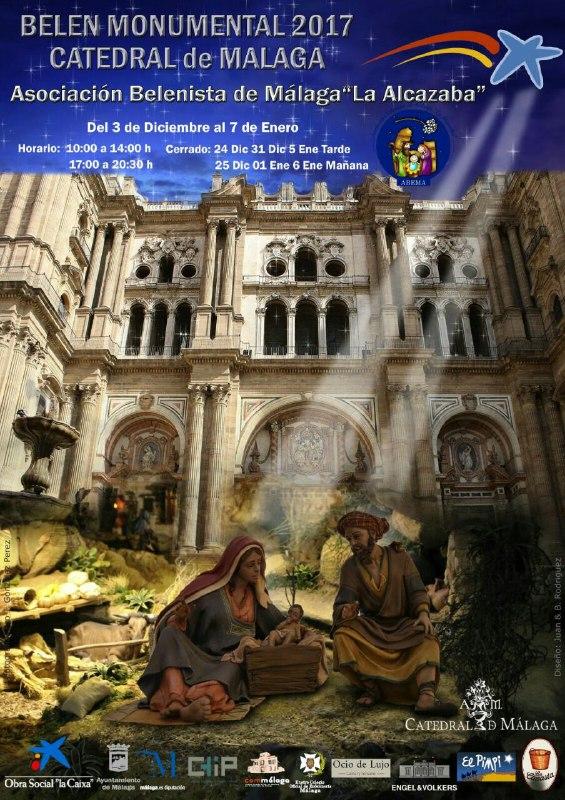 Cartel Belén Monumental 2017 - Asociación Belenista de Málaga La Alcazaba
