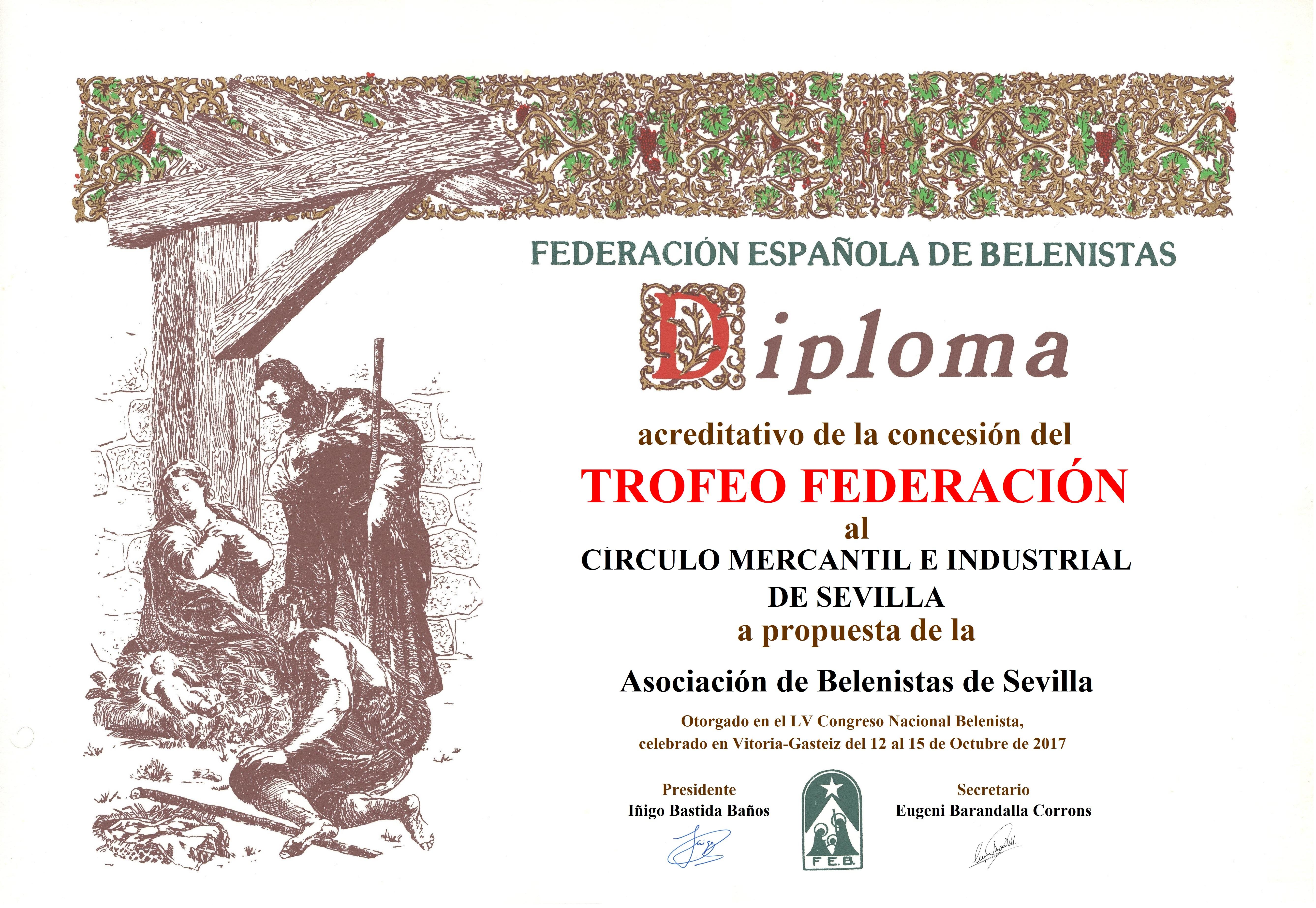Círculo Mercantil e Industrial de Sevilla – Diploma Trofeo FEB 2017