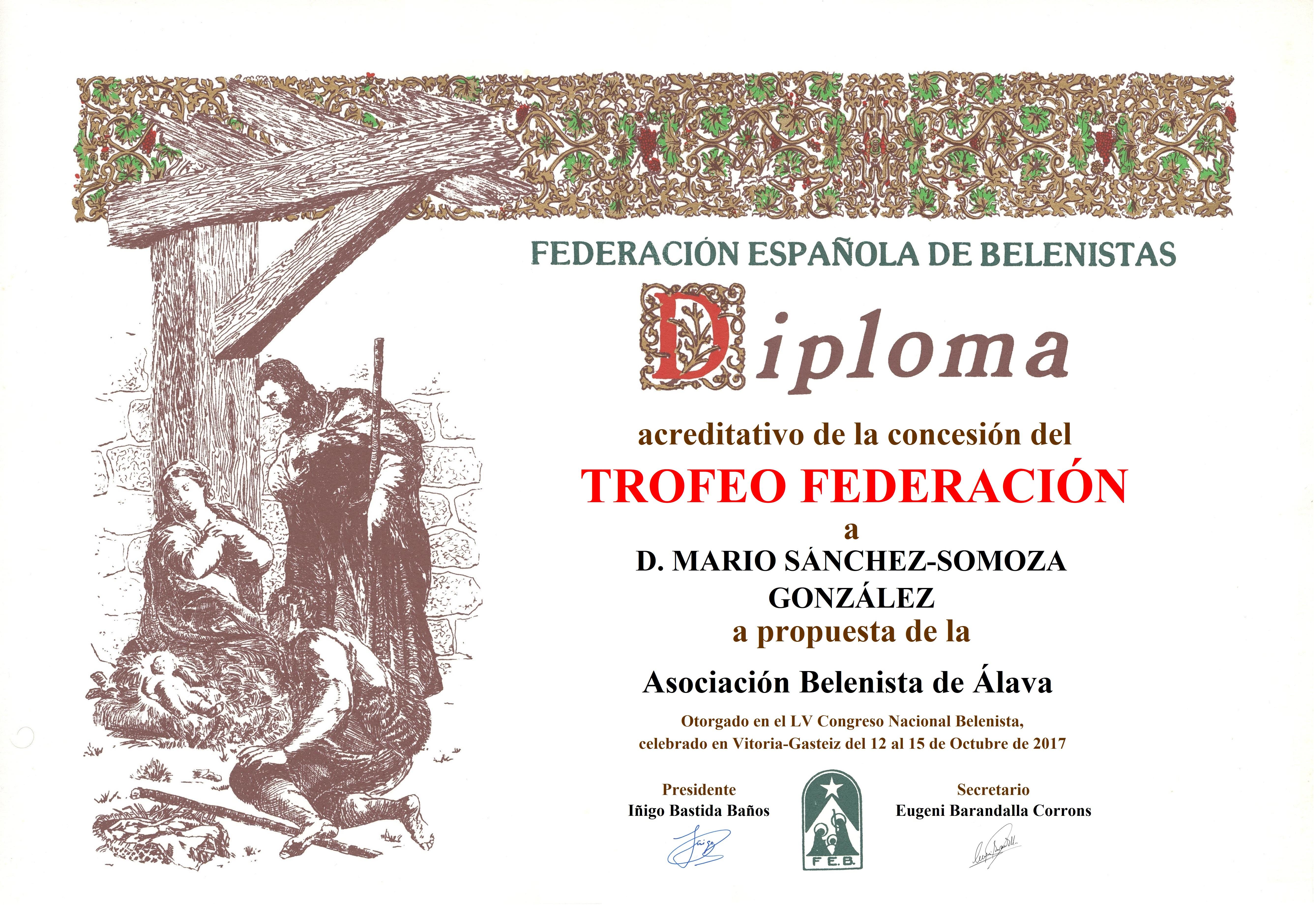 Mario Sánchez-Somoza González - Diploma Trofeo FEB 2017