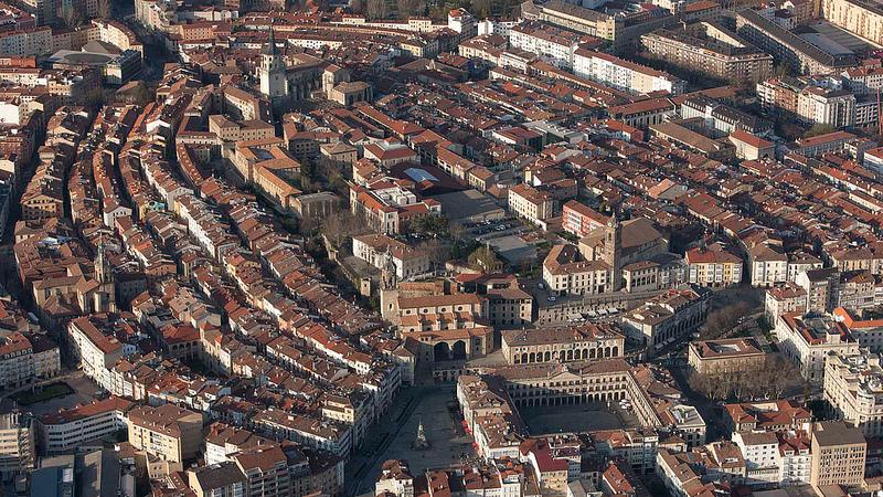 Vista aérea del casco viejo de Vitoria-Gasteiz
