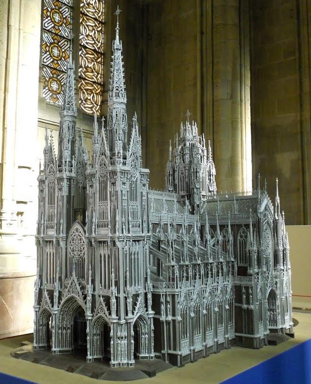 """Maqueta del proyecto original de la Catedral """"Nueva"""" de María Inmaculada"""