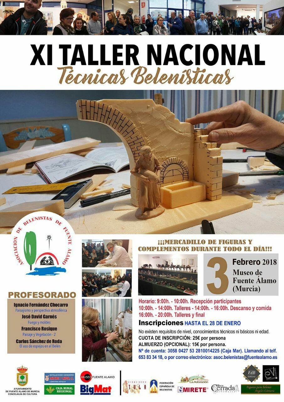 Cartel XI Taller de Técnicas Belenistas - Asociación de Belenistas de Fuente Álamo