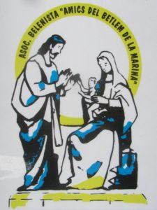"""Logo de la Asociación Belenista """"Amics del Betlem de La Marina"""""""