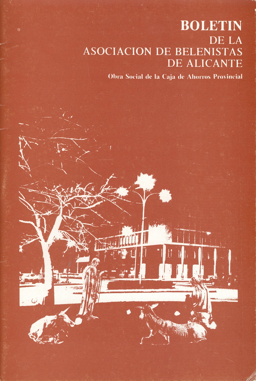 Portada del Boletín Nº 19 - 1977, de la Asociación de Belenistas de Alicante