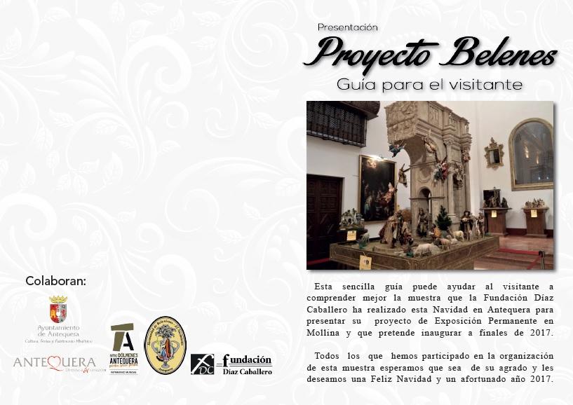 Exterior Folleto Exposición Antequera 2016 - Presentación Proyecto Belenes