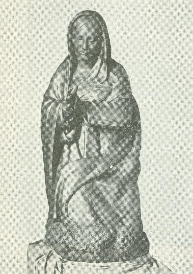 Santa María del Pesebre. Escultura de Giovanni Merliano. Siglo XVI, Nápoles. Iglesia de Santa María del Parto.