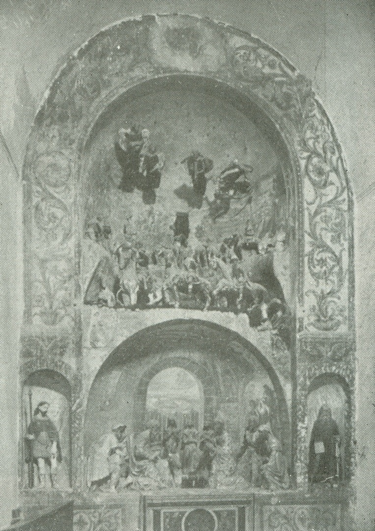 Calvi nell' Umbria. Iglesia de San Antonio. Pesebre de terracota, siglo XVI. Obra de figuristas de los Abruzos.
