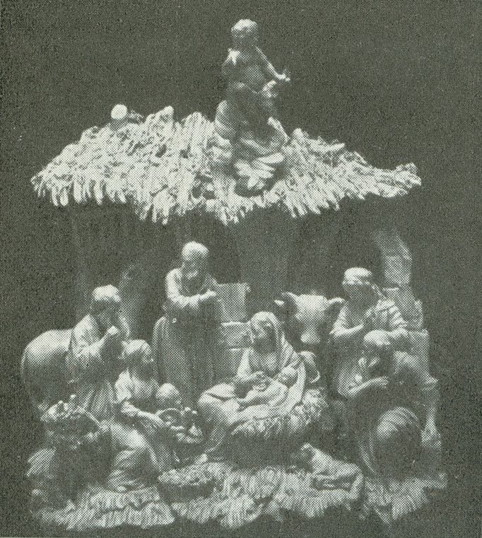 """""""Adoración de Pastores"""". Porcelana de Viena, obra de 1760 (Schlossmuseum, Berlín)."""