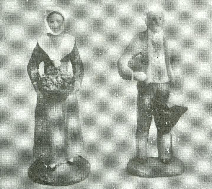 """""""Santons"""" de la Provenza. Hacia 1800. Museo del Vieux Marseille, Marsella."""