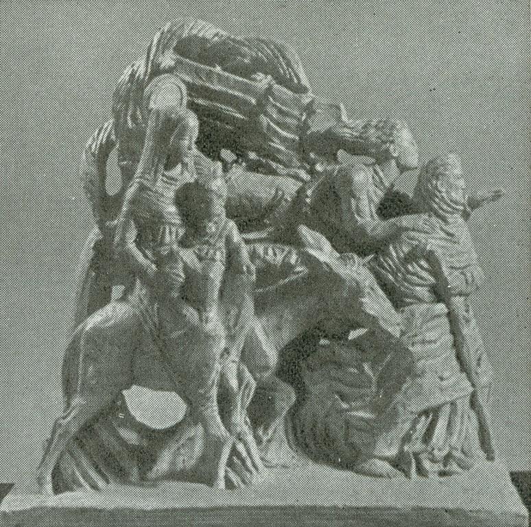 """""""Huida a Egipto"""". Obra de Ferenc Varga. Budapest, 1948."""