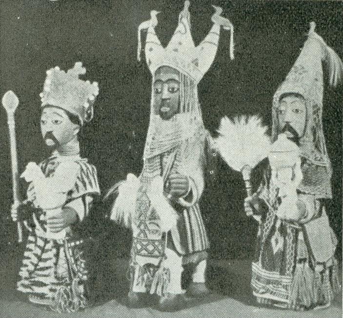 Los Reyes Magos. África, Oudo Ilorin - Nigeria (Exposición Misional de Arte Sacro, Roma).