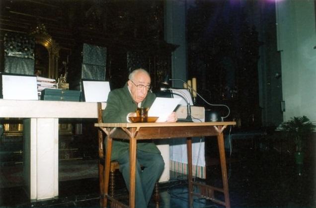 Aurelio Vallejo Íñiguez de Ciriano, pregonero de la Navidad 1989 en Vitoria-Gasteiz (15/12/1989)