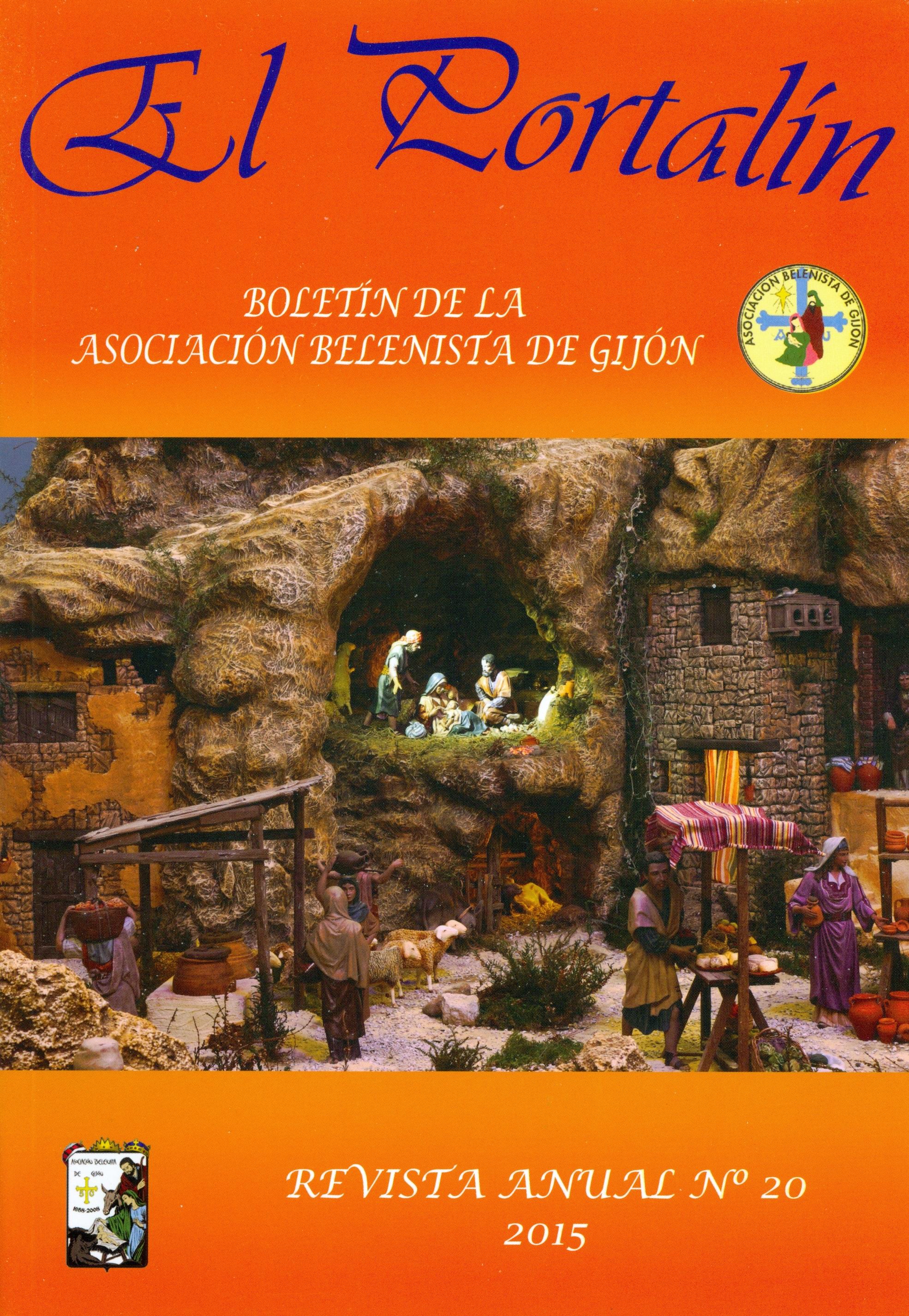 Portada de la revista El Portalín Nº 20 - 2015, de la Asociación Belenista de Gijón