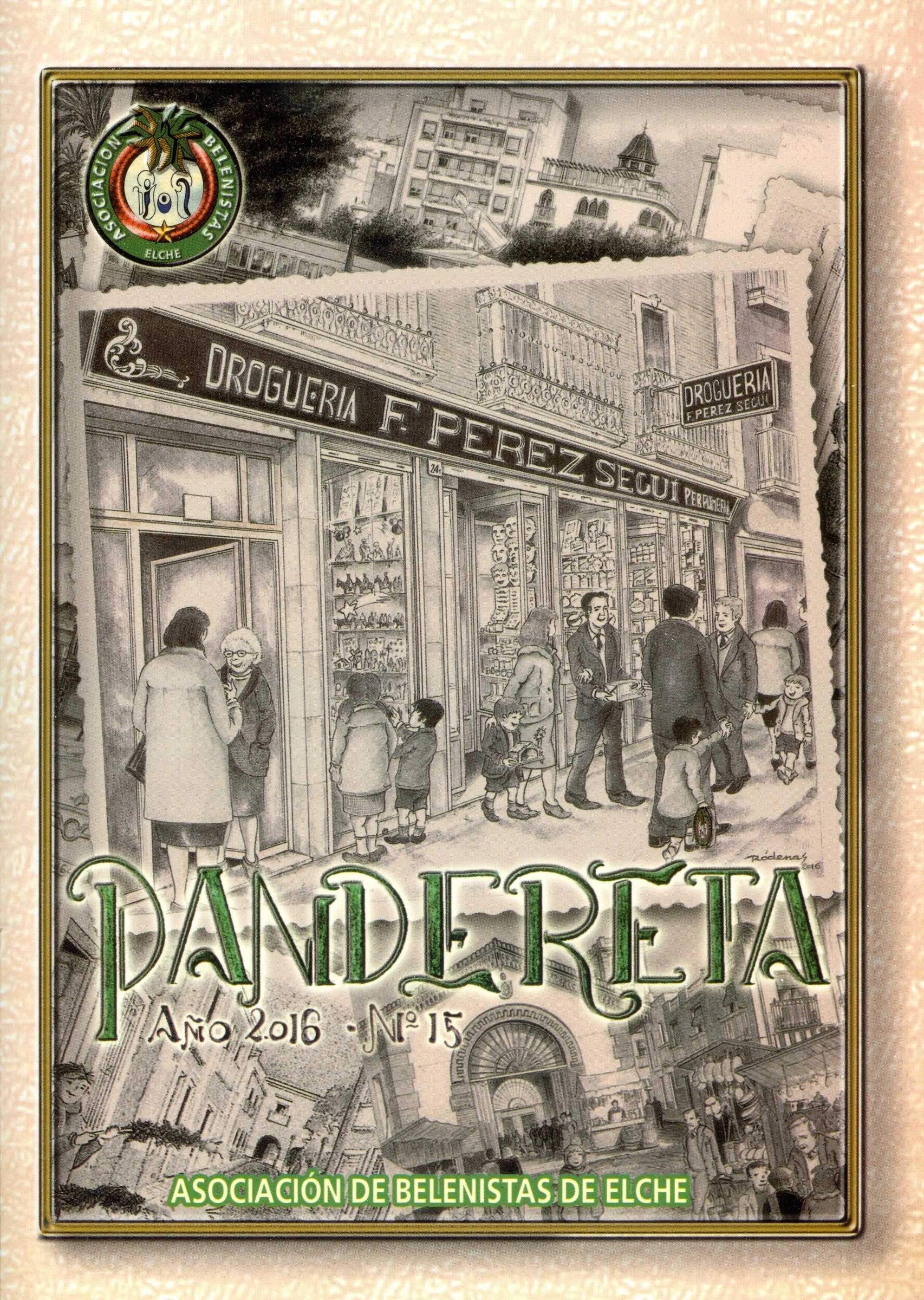 Portada de la revista Pandereta Nº 15 - 2016, de la Asociación de Belenistas de Elche