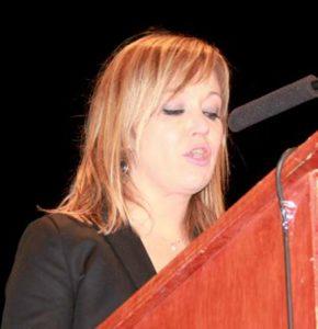 María Pomares Sánchez, pregonera de la Navidad 2016 en Elche (08/12/2016)