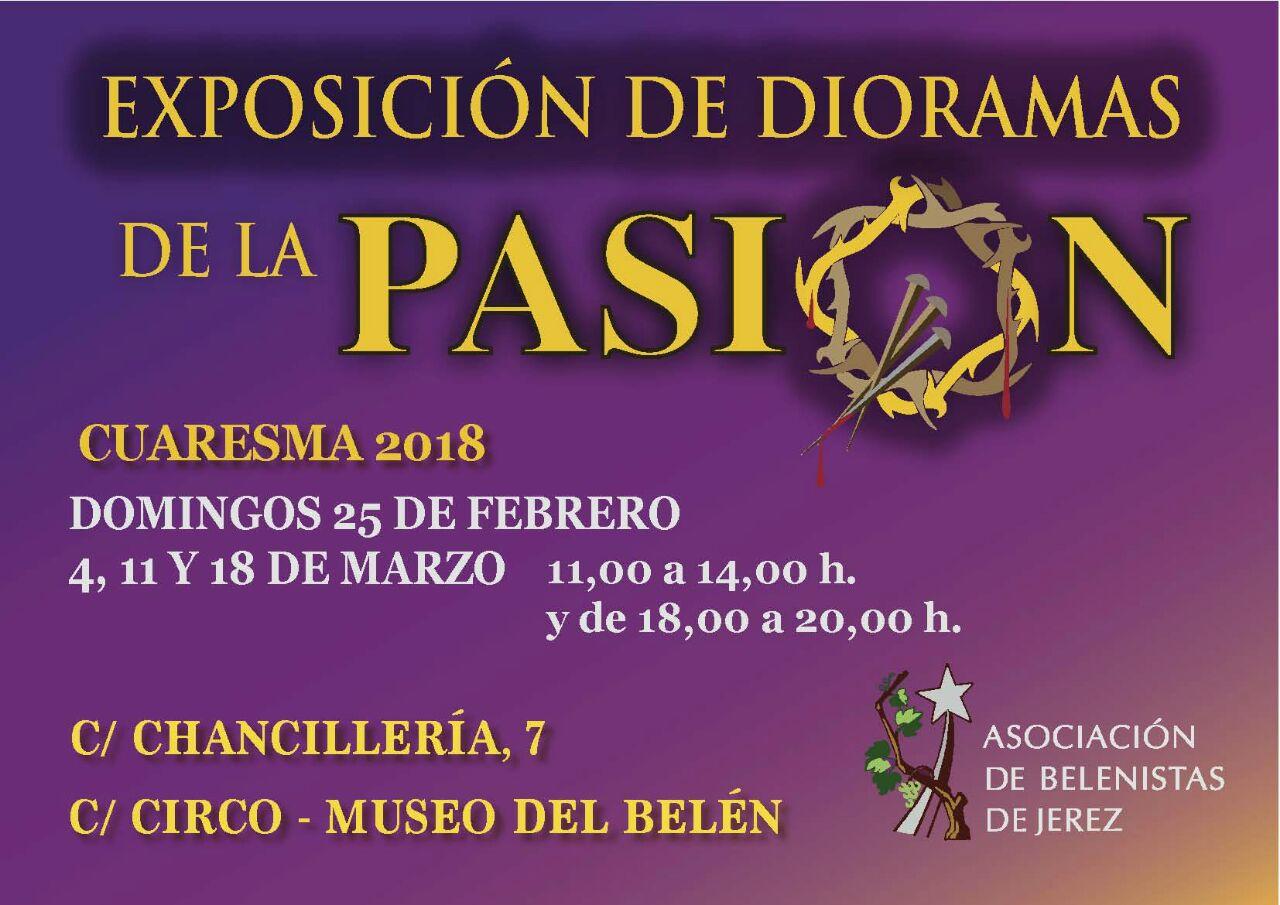 Cartel Exposición de dioramas de la Pasión 2018 - Asociación de Belenistas de Jerez