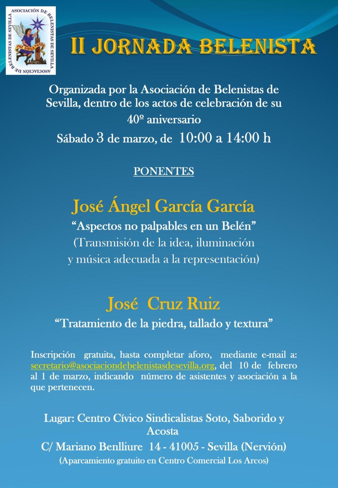 Cartel II Jornada Belenista - Asociación de Belenistas de Sevilla