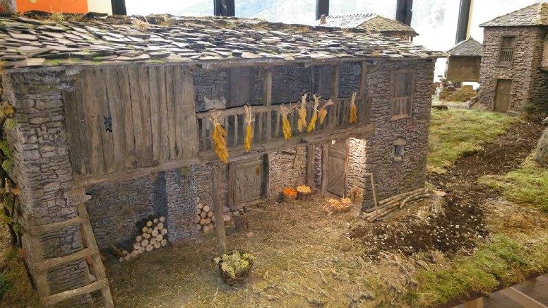 """Paisaje del """"Belén de Argul"""" en el Museo Etnológico de Pesoz"""