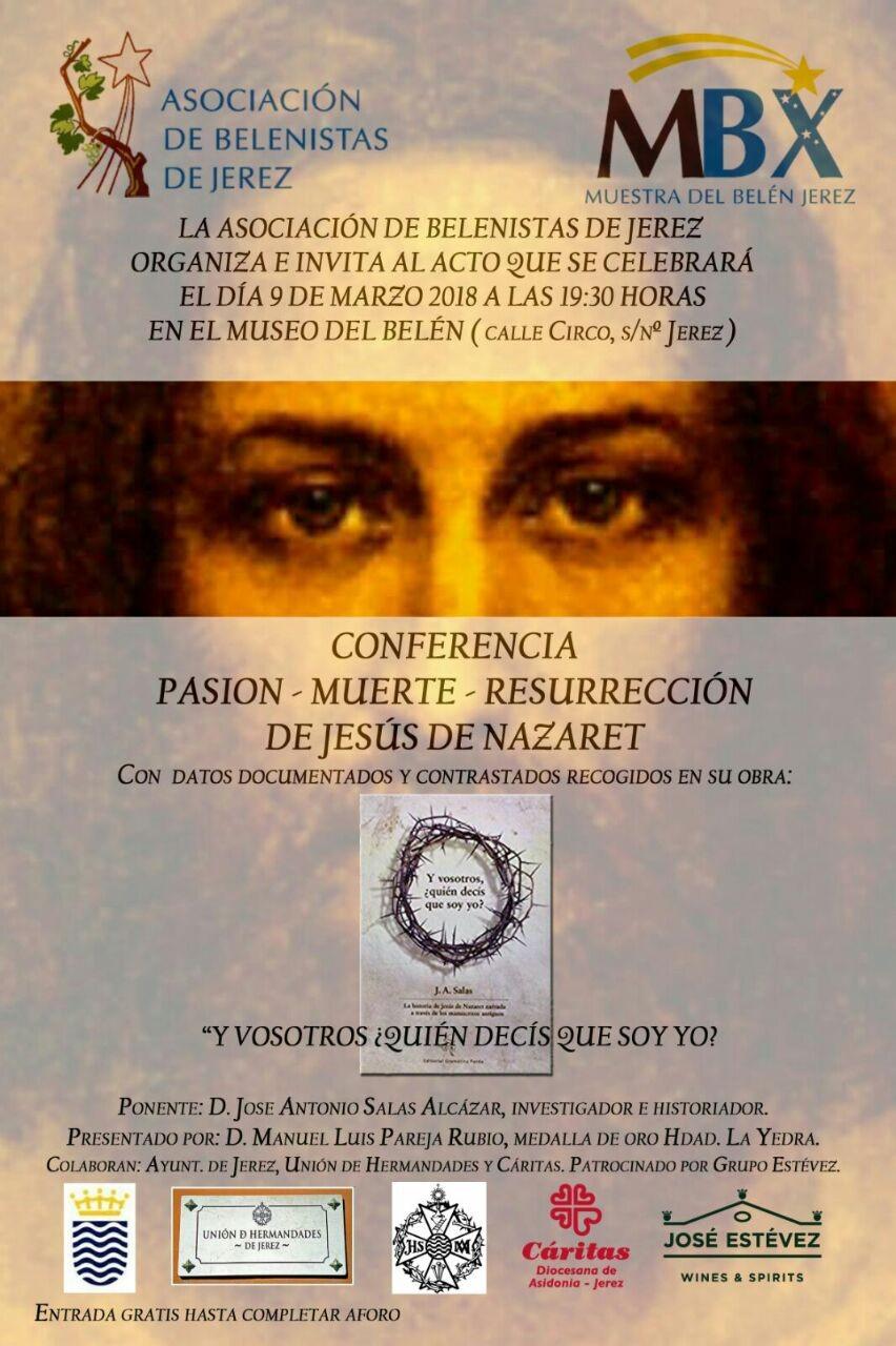 Cartel Conferencia Pasión 2018 - Asociación de Belenistas de Jerez