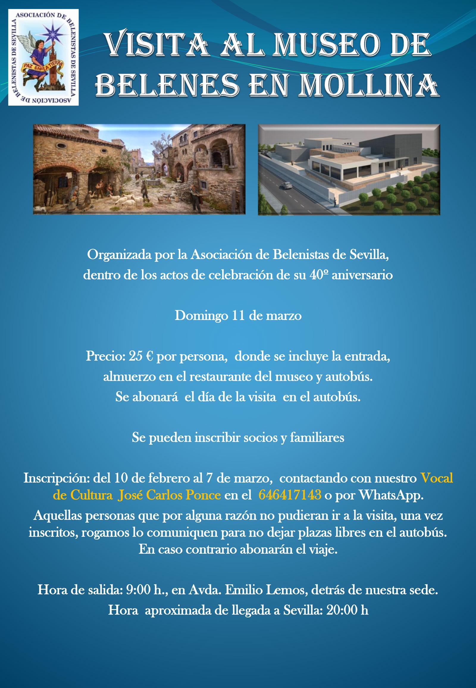 Cartel Excursión 11/03/2018 a Mollina - Asociación de Belenistas de Sevilla