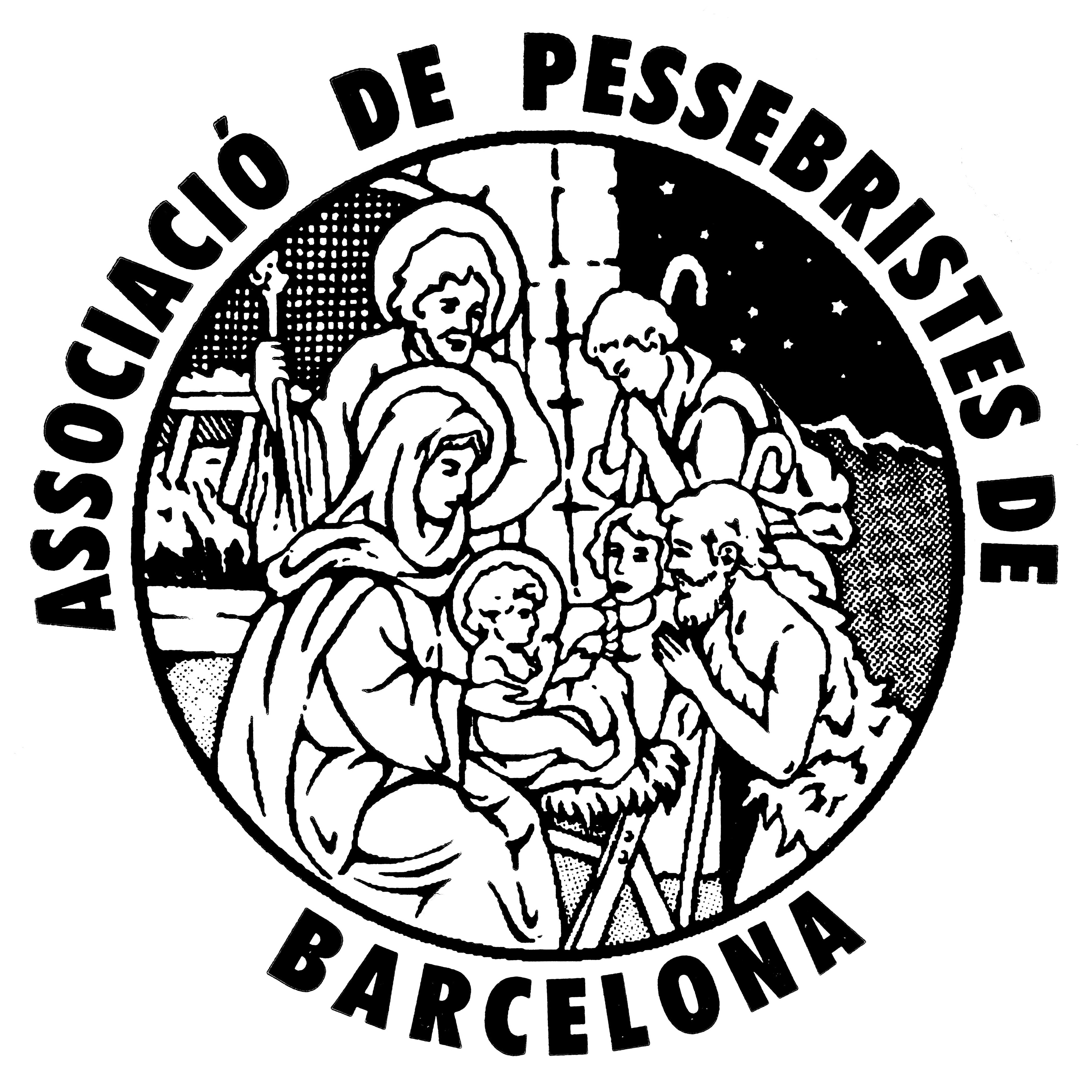 Logo de la Associació de Pessebristes de Barcelona (antiguo, hasta septiembre de 2015)