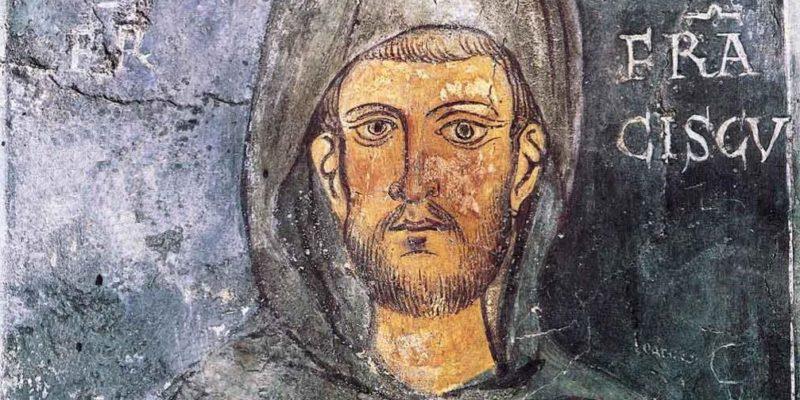 Retrato más antiguo de San Francisco de Asís, pintado en 1228, año de su canonización, solo dos años después de su muerte, en el muro de una capilla lateral del Monasterio de San Benedicto, también llamado Santuario del Sacro Speco, en Subiaco (Italia)