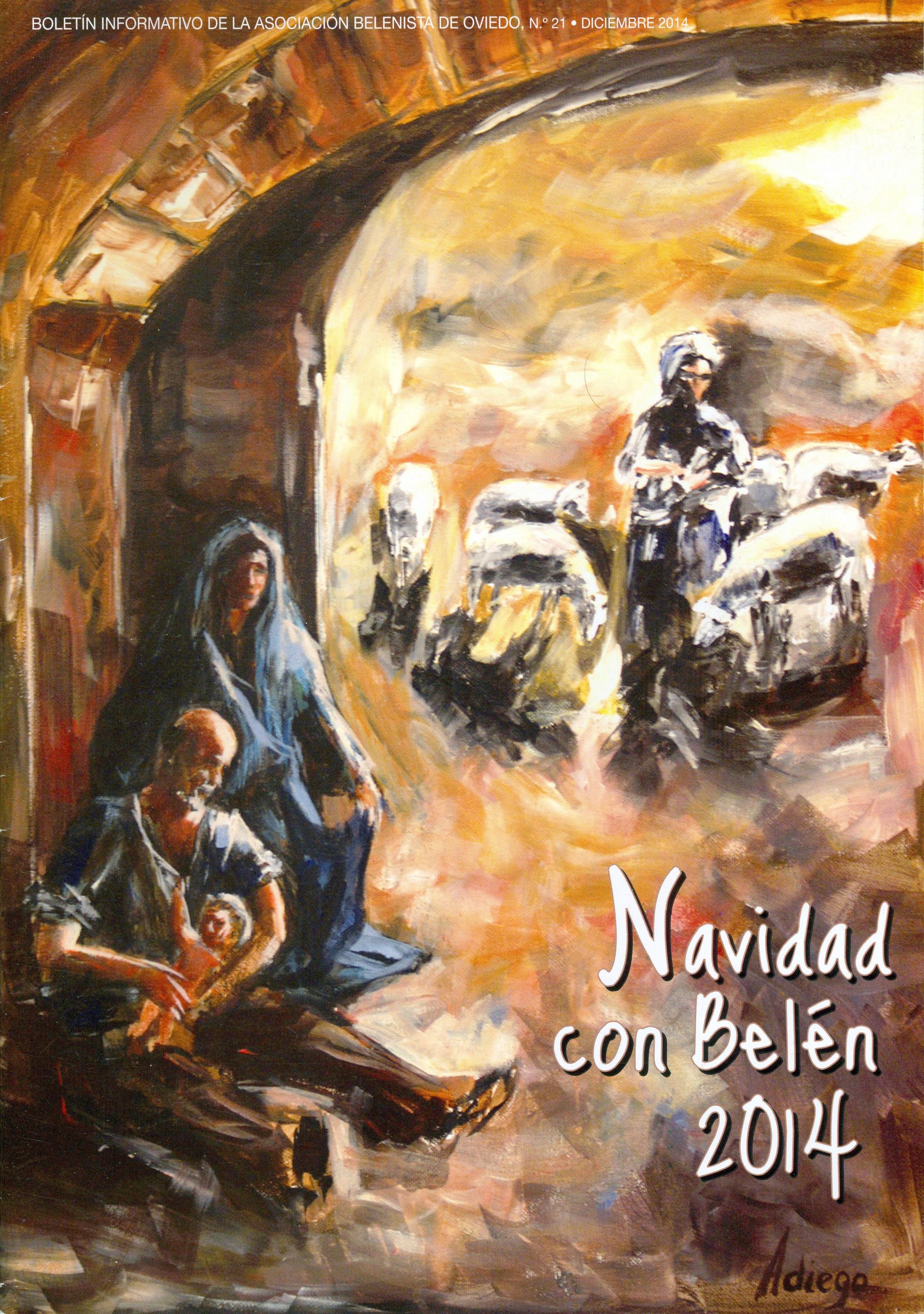 Portada de la revista Navidad con Belén Nº 21 - 2014, de la Asociación Belenista de Oviedo