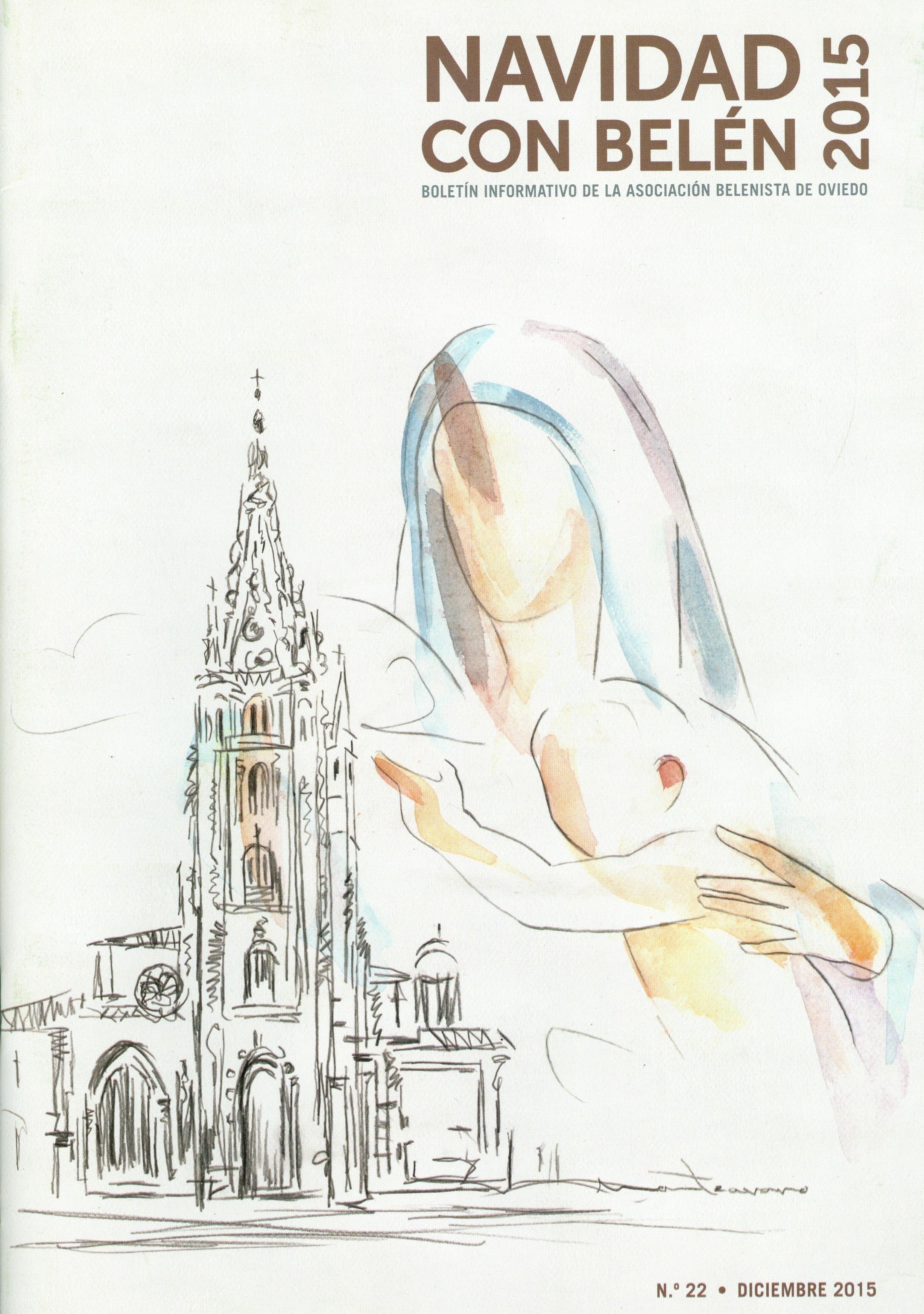 Portada de la revista Navidad con Belén Nº 22 - 2015, de la Asociación Belenista de Oviedo