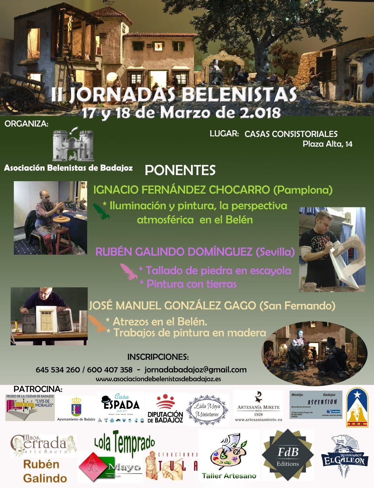 Cartel II Jornadas Belenistas - Asociación Belenista de Badajoz