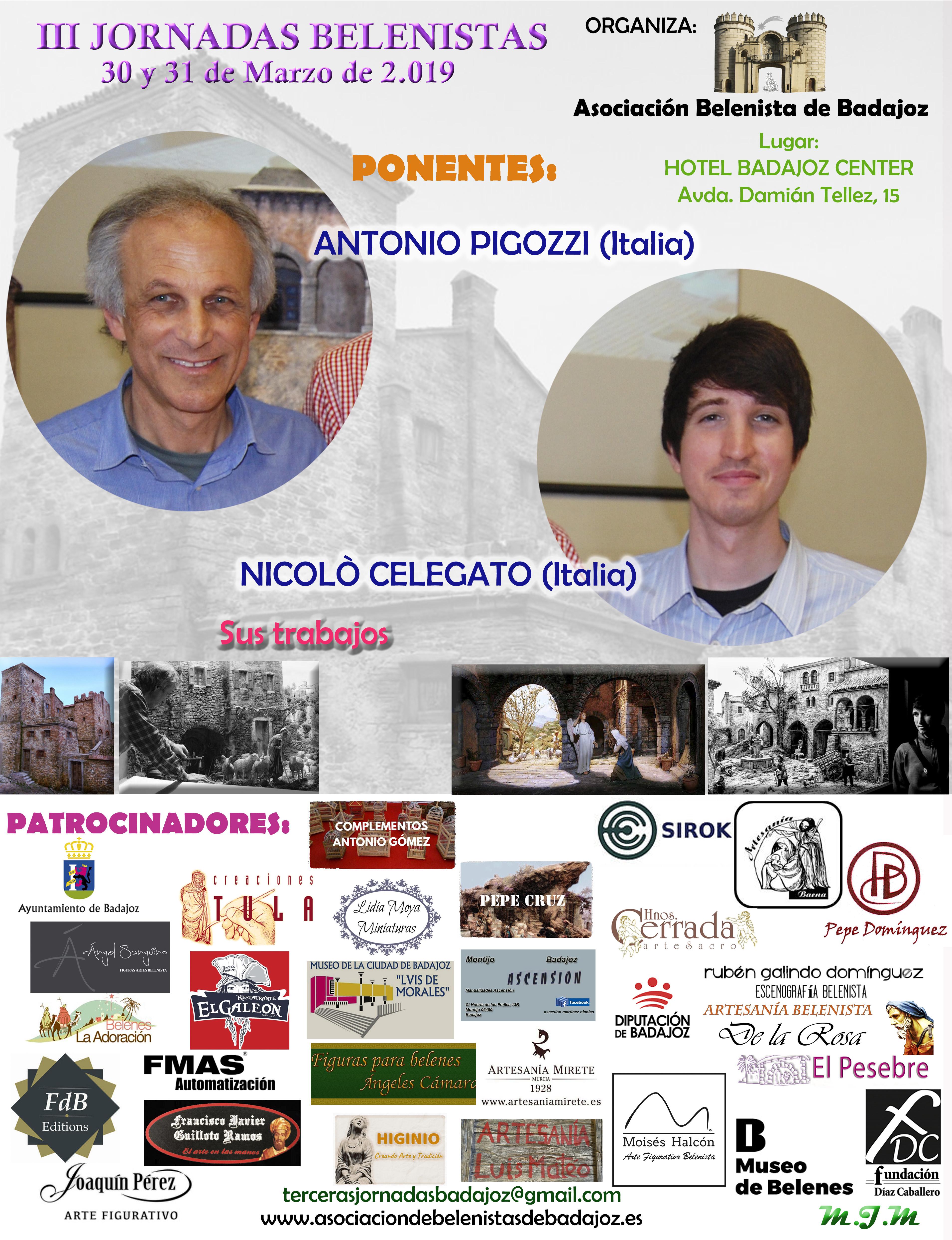 Cartel III Jornadas Belenistas - Asociación Belenista de Badajoz