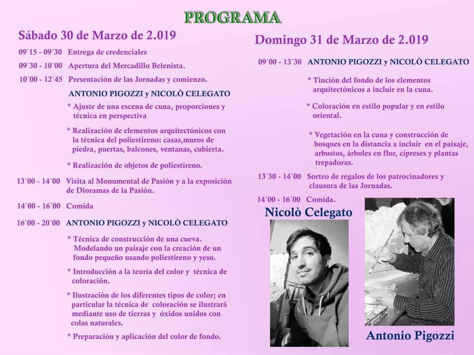 Programa III Jornadas Belenistas - Asociación Belenista de Badajoz
