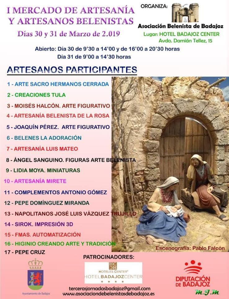 Cartel I Mercado Belenista - Asociación Belenista de Badajoz
