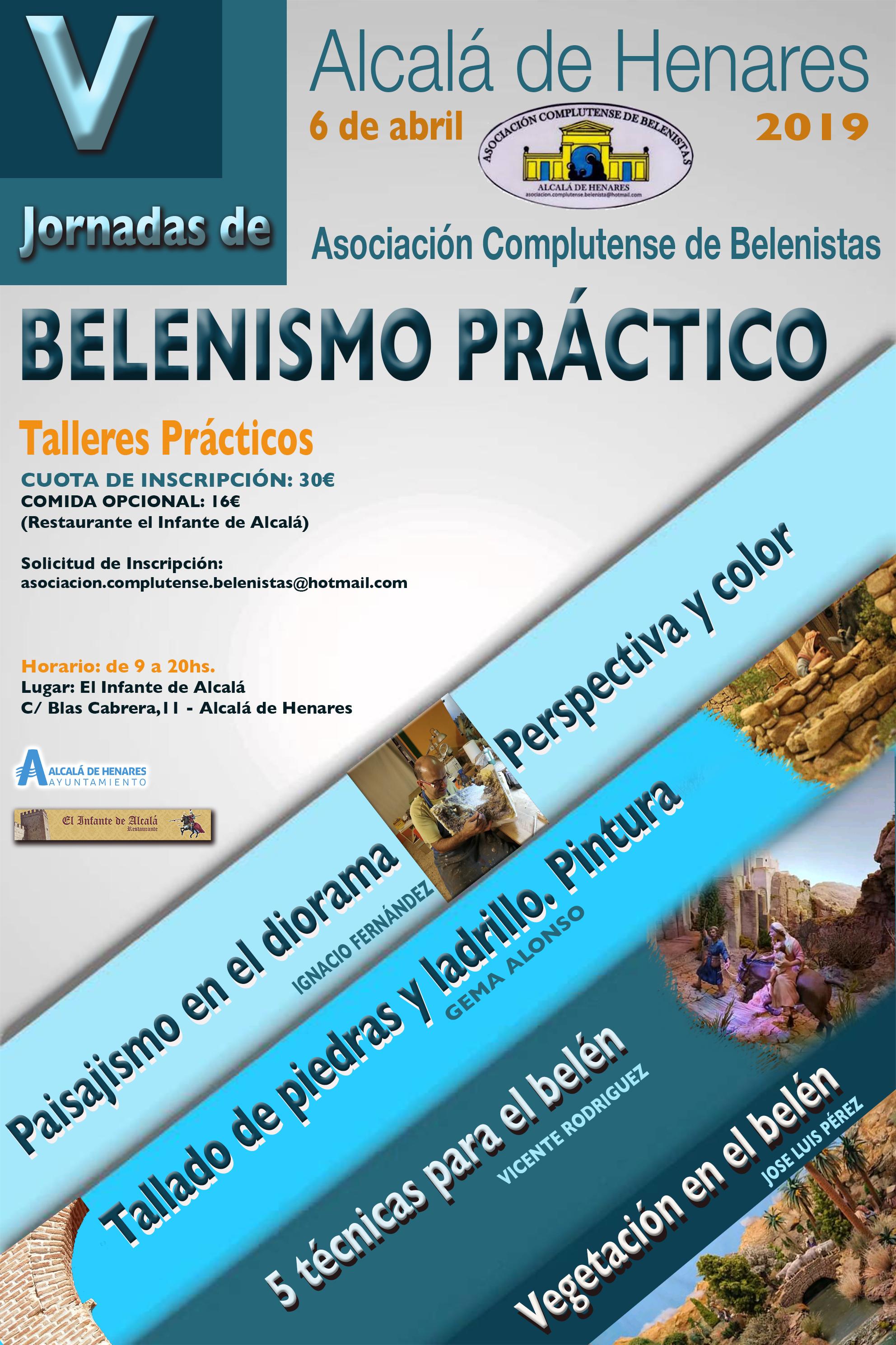 Cartel V Jornadas de Belenismo Práctico - Asociación Complutense de Belenistas