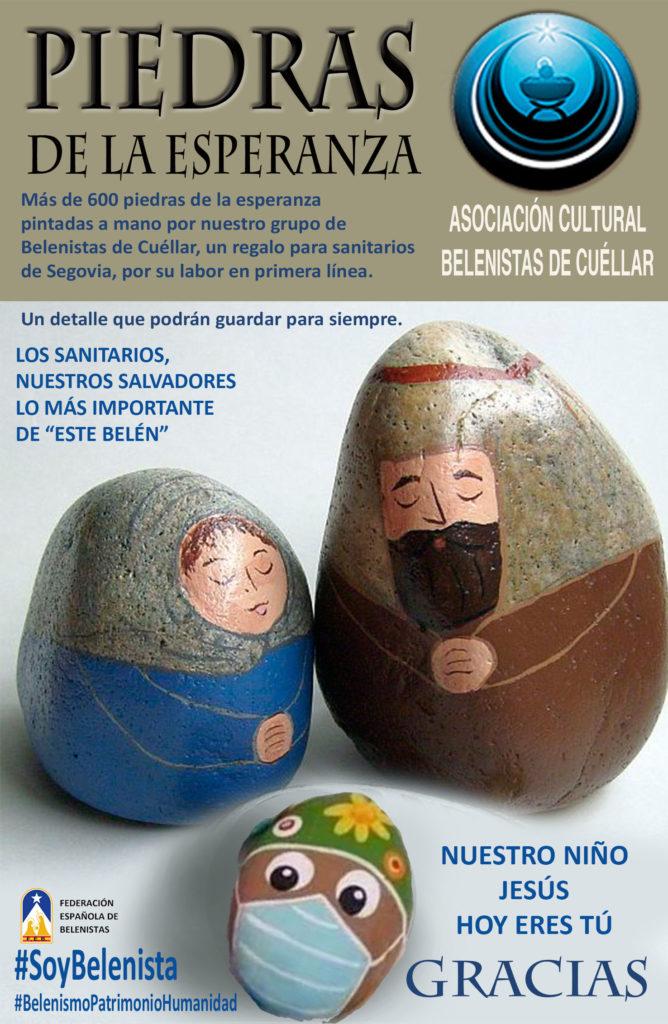 """Cartel """"Piedras de la Esperanza"""" - Asociación Cultural Belenistas de Cuéllar"""